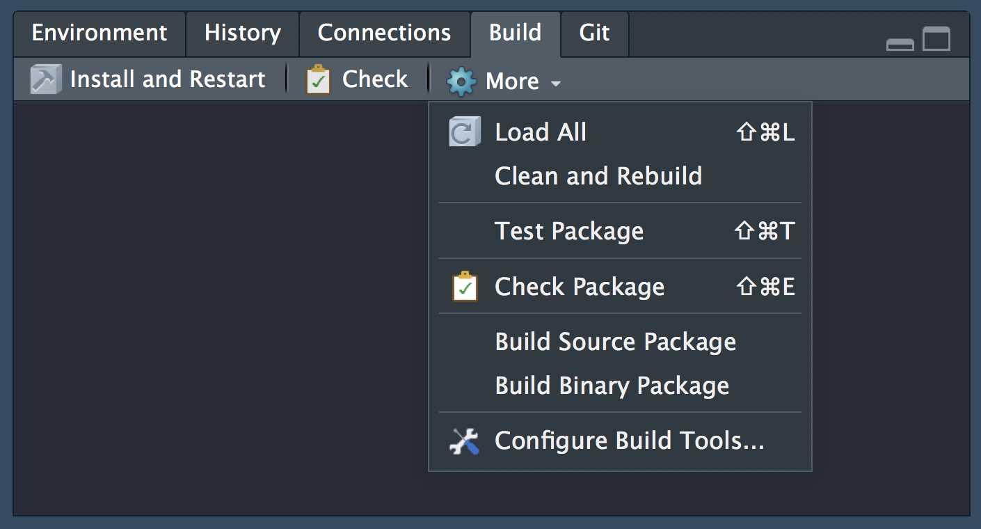 Manage functionality as a package